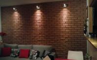 Ściana z płytek ceglanych