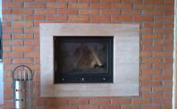 Płytki licowe kominek z cegły